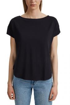 edc Shirt mit Rückenausschnitt schwarz 051CC1K318