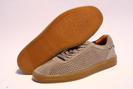 Marc Shoes Stellan Herren Halbschuh Schnürer Nubuk grau 831401