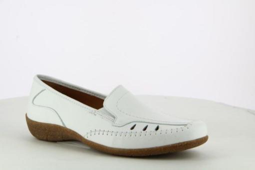 Aco Slipper Sabine 14 Leder weiß beige 281/2574