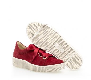 Gabor Sneaker Samt Plateau rot 23.330.10