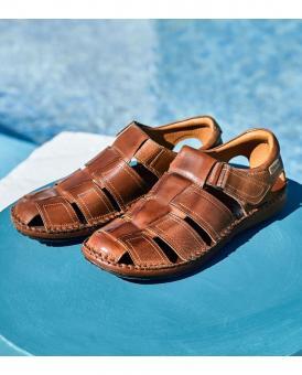 Pikolinos Sandale Klettverschluß braun  06J-5433