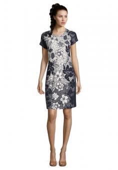 Betty Barclay Kleid 1/2 Arm weiß dunkelblau 39932990
