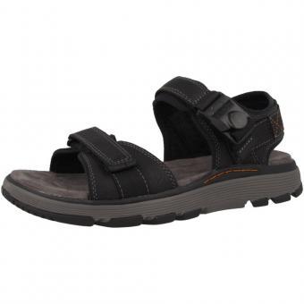 Clarks Sandale Leder schwarz Klettverschluss 26132612