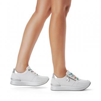 Remonte Sneaker Leder Reißverschluss softfoam weiß D1302-80