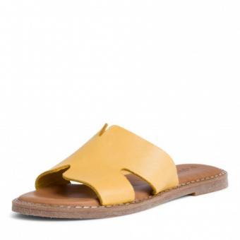 Tamaris Pantolette Leder gelb schwarz 1-1-27135-24