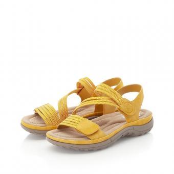 Rieker Sandale Klettverschluss Antistress gelb V8873-68