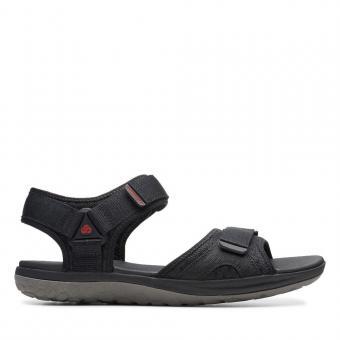 Clarks Sandale Textil Klettverschluss schwarz 26140269