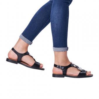 Remonte Sandale Leder schwarz D3655