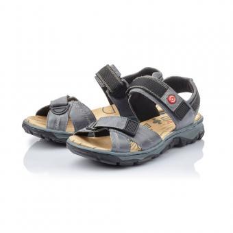 Rieker Sandale Trekking Leder Antistress Klettverschluss blau 68851-12