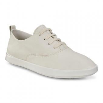 ECCO Leisure Sneaker Schnürer Leder Shadow White 205003