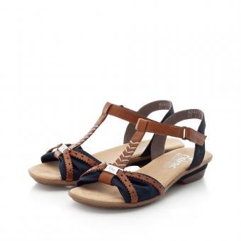 Rieker Sandale Antistress Klettverschluss blau 63499-14