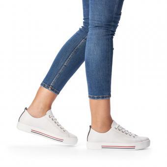 Remonte Sneaker weiss Reißverschluss Leder softfoam D0900-80