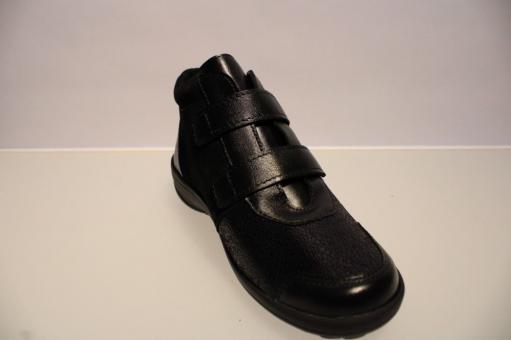 ecco Sneaker Soft 2.0, Leder, Klettverschlüsse schwarz 39