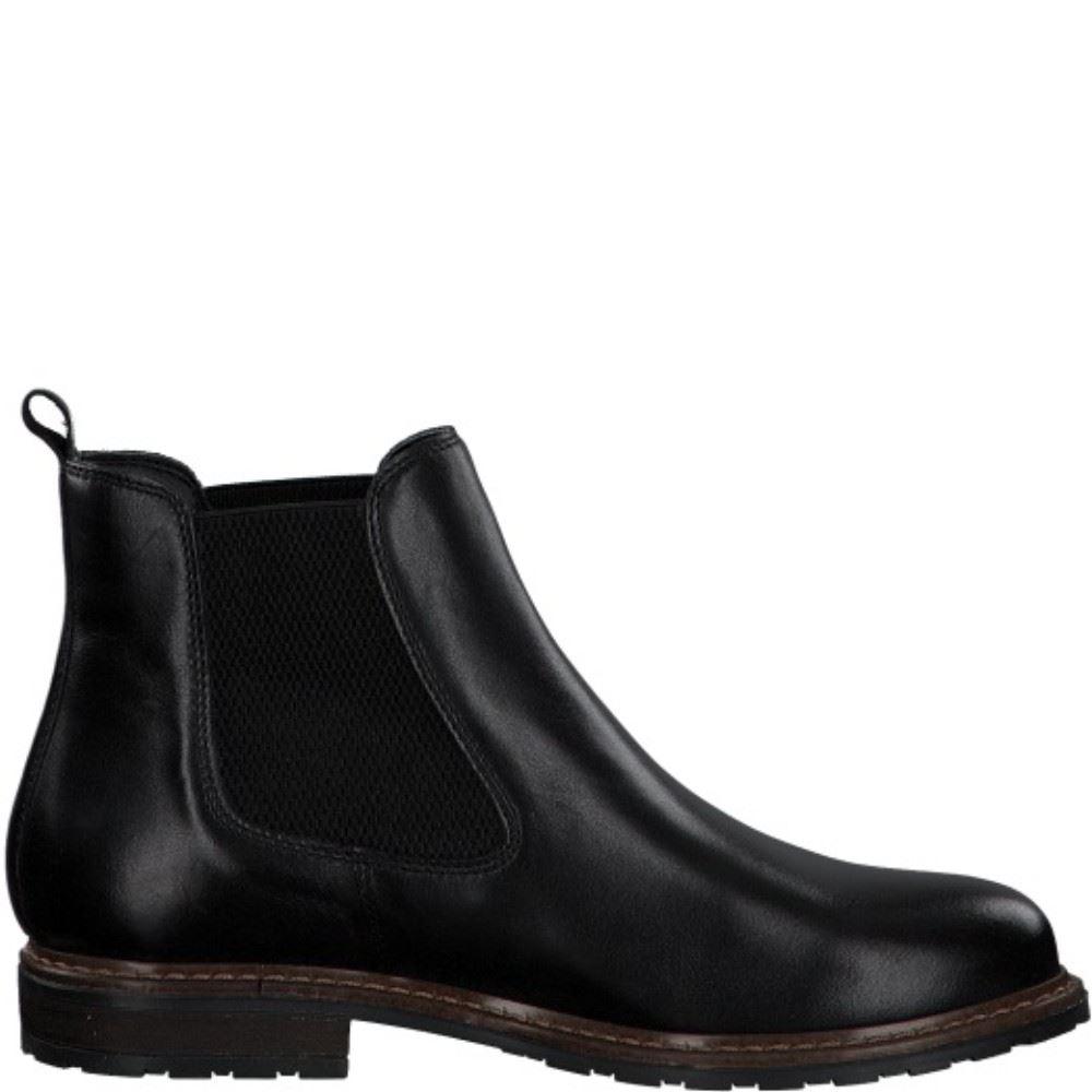 Tamaris Leder Chelsea Boots 1 1 25056 25 41   003 BLACK LEATH  